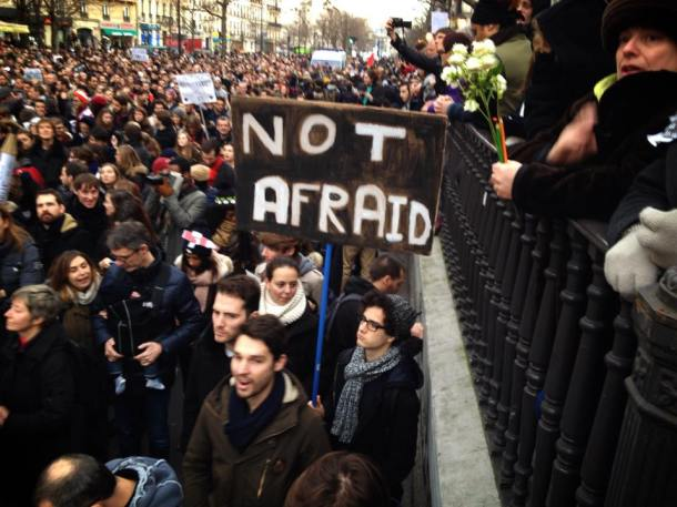 Paris march of millions. #CharlieHebdo