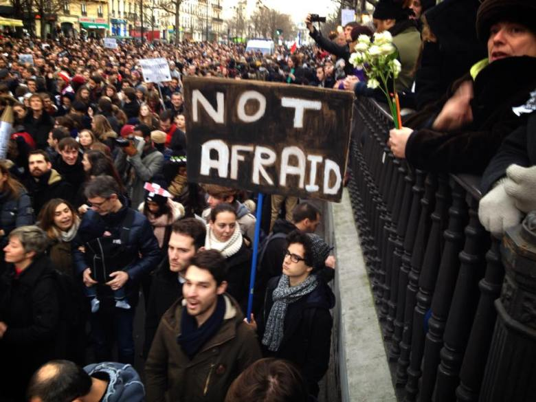 Paris march of millions. #CharlieHebdo
