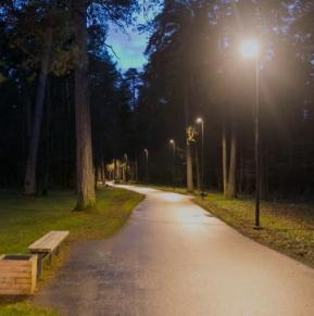 В парке Вингис установили ночноеосвещение