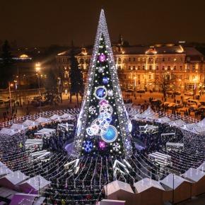 Вильнюс попал в топ-25 городов с самыми красивыми рождественскимиёлками