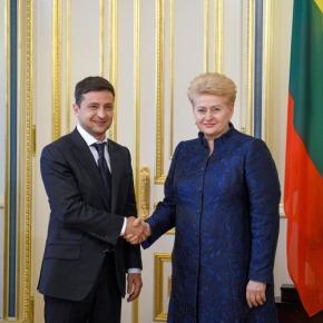 Состоялась встреча Дали Грибаускайте и ВладимираЗеленского